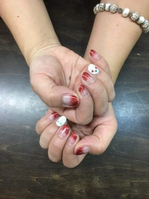 Red GradationGel Nails   http://www.ankh-jp.com